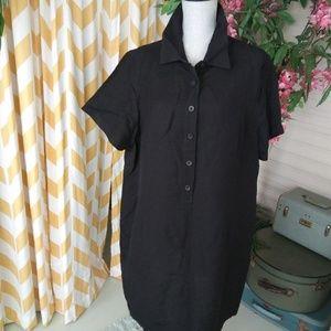 Lane Bryant plus size 22/24 linen shirt dress